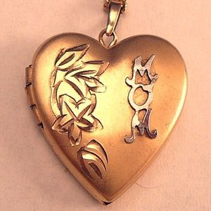 Jewelry - Gold Filled Mother Locket Mom Heart Vintage
